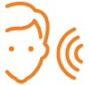 Gebärdensprachdolmetscher oder Verleih induktive Höranlage